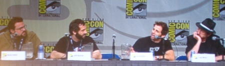 Kevin Smith, Judd Apatow. Zack Snyder, and Frank Miller.